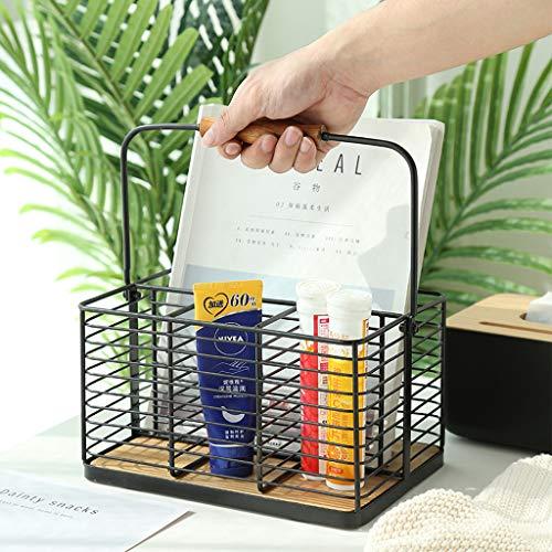 Smeedijzer drie-laags draad werkblad mandje, plank smeedijzer wandgemonteerde opslagmand geschikt voor fruit, groenten of cosmetica