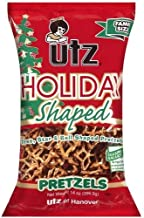 utz Holiday Shaped Pretzels - Star, Tree & Bell Shaped -14 oz bag-Pack of 2 by UTZ
