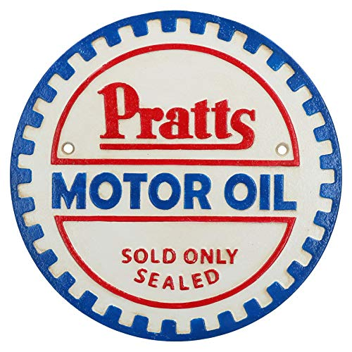 AB Tools Pratts Motor Oil Fonte Plaque Ronde Signe Mur Atelier Garage Essence Boutique