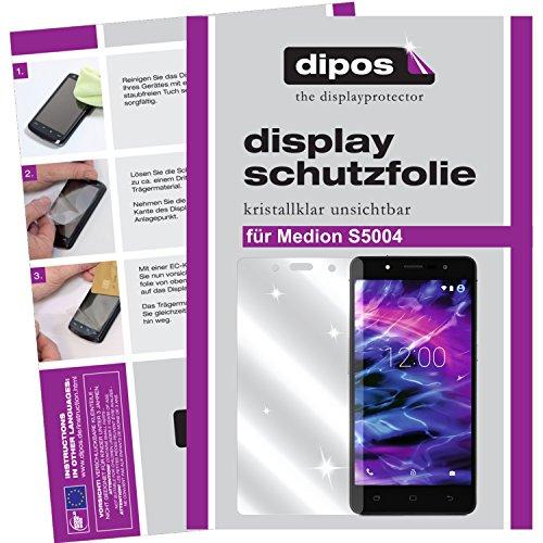 dipos I 2X Schutzfolie klar kompatibel mit Medion S5004 Folie Bildschirmschutzfolie