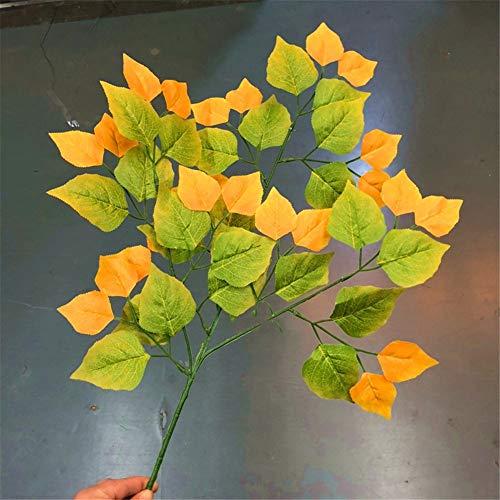 ZJJFZH Künstliche dekorative Blumen Birkenblätter,Populus euphratica,Blätter,im Freien,Simulation,Blätter,grüne Blätter,rote Blätter,Herbst,gelb Blumenprodukten gehören:Kunstblumen & -Pflanzen