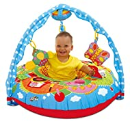 A fabric covered inflatable ring with Gym, providing a supporting multi-sensory environment for baby There are textures and sounds to explore in the four gym toys and the eight activities around the Playnest Both hand/eye coordination and manipulativ...