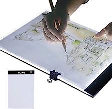A4 Light Box, FOME Ultra-Thin A4 Tracing Light Box USB Power Adjustable Brightness LED Drawing Board Tracing Pad Artcraft ...