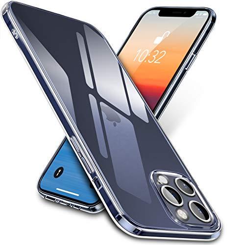 vau Clear Case kompatibel mit iPhone 12/12 Pro (6.1) Einteilige Hülle aus Glas und Silikon