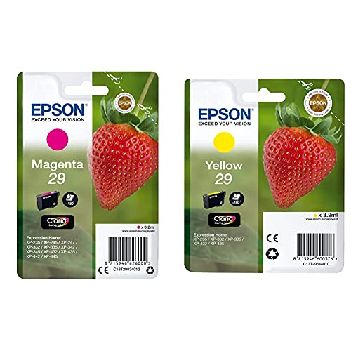 Epson C13T29834022 Cartucho De Tinta, Standard, Color Magenta + Claria Home 29 Cartucho de Tinta estándar de 3,2 ml, Paquete estándar