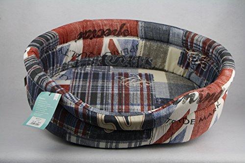 Greyhound Hundebett Classic Oval - Union Jack (60)