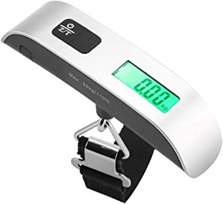 Digital Hanging Luggage Scale, LCD Display Portable Handheld Travel Baggage Scale with Hook for Suitcase or Carry Bag, 110...