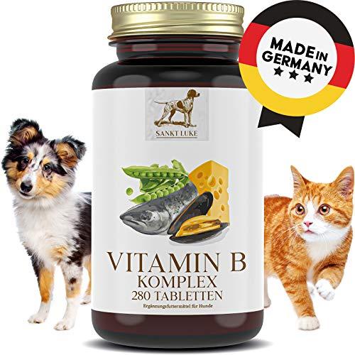SANKT LUKE - Vitamin B Komplex Hunde/Katzen - 6 bis 12 Monate Vorrat, Hochdosiert, Vitamine B1, B2, B3, B5, B6, B12, K3, Folsäure jedes Alter (280 Tabletten)