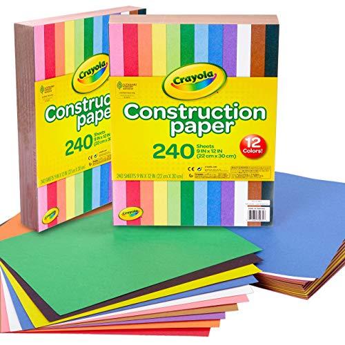 Crayola Construction Paper, 240 Count, by Crayola lot de 2