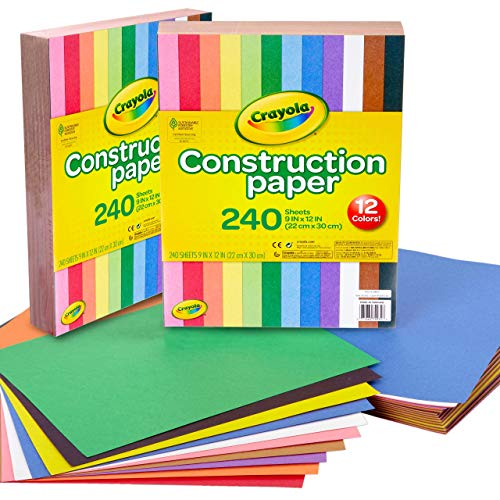 Crayola Bulk Construction Paper, Back To School Supplies, 10 Colors, 480 Pages