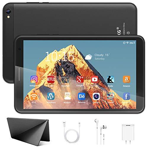 Tablet 8 Pulgadas - Google Android 10.0 Certificado por Google GMS, 3GB de RAM + 32GB de ROM 128GB,Cuatro-Core, 1280 × 800 IPS ,Batería 6500mAh,WiFi, Bluetooth (Negro)