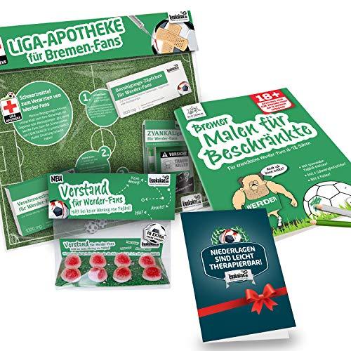 Bremen Coffee to go-Becher ist jetzt das GROßE Saison Notfall Set für Werder-Fans by Ligakakao.de | Kaffee Becher Tasse Logo grün-weiß