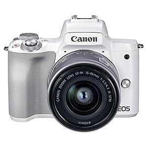 """Canon ミラーレス一眼カメラ EOS Kiss M2 標準ズームレンズキット ホワイト KISSM2WH-1545"""""""