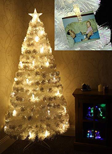 Christmas Concepts® - 72'' (1,8 mètres) Arbre de Noël commémoratif à Fibre Optique irisé commémoratif de 6 pi avec lumières Del
