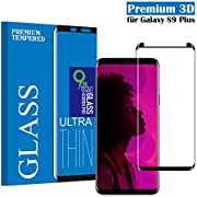 Tjicui Panzerglas Schutzfolie für Galaxy S9 Plus, Gute Qualität 3D Gehärtetes Glas Panzerglas [HD Klar] [Anti Fingerabdruck] [Anti-Kratzen] [Blasenfrei] Displayschutzfolie für Samsung Galaxy S9 Plus