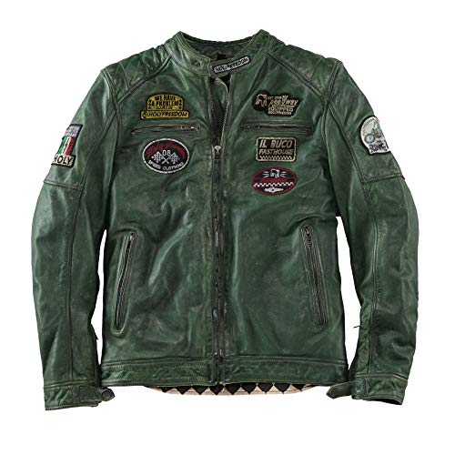 Holy Freedom Lederjacke Zero Green M