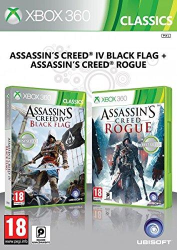 Jogo Assassins Creed Rogue + AC Black Flag Xbox 360