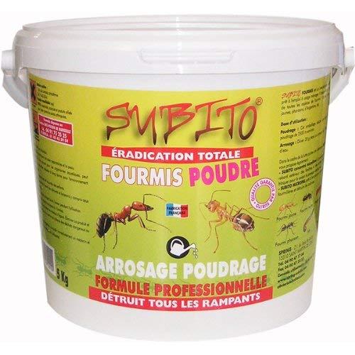 Subito - Poudre Anti-Fourmis Seau de 5kg Formule professionelle Eradication Totale