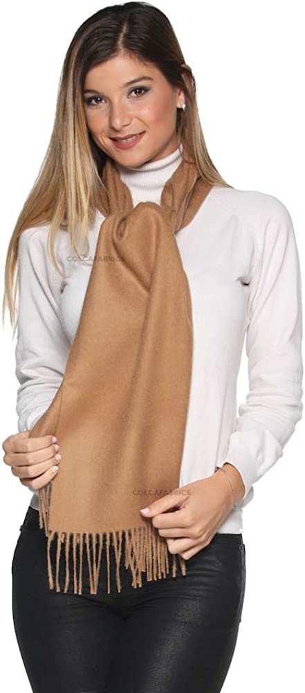 Luxury 100/% Pure Peruvian Baby Alpaca Reversible Wool Scarf for Men /& Women Variety of Colors