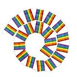 TOYANDONA Tragbare Wiederverwendbare Flagge der bunten Flagge homosexuelle Fahne für Einkaufszentrumquadratdekor