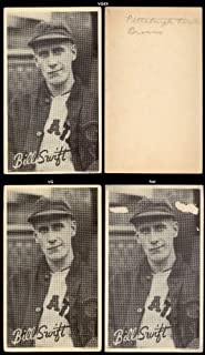 1936 Goudey R314 wide pen type 1 (Baseball) Card# 102 bill swift/portrait of the Pittsburgh Pirates Fair Condition