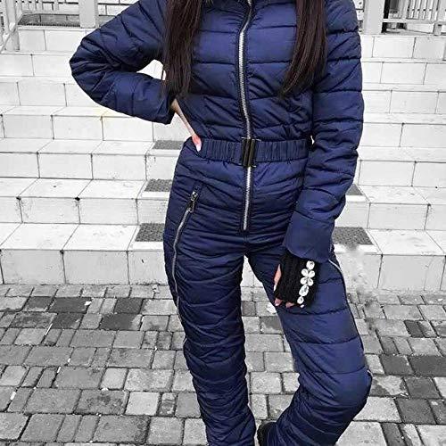 ZYJANO Traje de esquí Falso Dos Abrigo de algodón Desfile de Moda Femenina Ropa de esquí más Gruesa Invierno cálido nuevos Trajes de esquí con Capucha de algodón de una Pieza