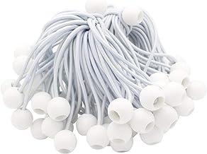 20 Stks Bungee Ballen Bungee Cords Tarp Ties Elastische Touw Koorden voor Banner Dekzeilen Pavilions Tenten of Luifel (Wit)