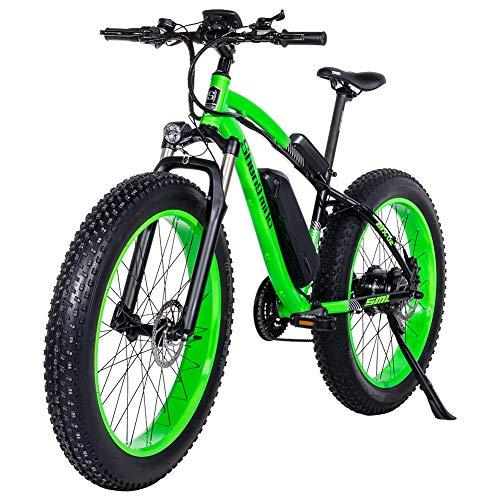 "GUNAI Elektrische Fiets 500W 48V 17Ah Elektrische Mountainbike Dikke Fiets 26 ""4.0 band E-Bike met Achterbank"