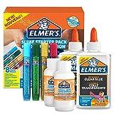 Elmer's Kit Iniciación Slime con pegamento transparente, barras con purpurina y solución...