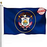 DFLIVE Double Sided Utah State Flag 3x5ft Heavy Duty Polyester 3 Ply UT Flags Indoor and Outdoor Use
