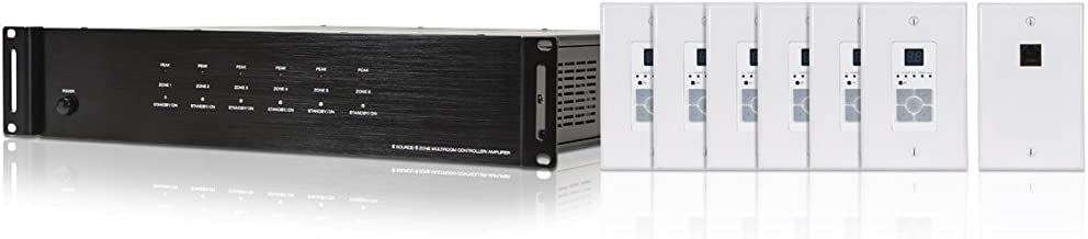 CLASSYTEK 6 Zone Home Audio Multizone Controller and Amplifier Kit - NO Logo