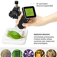 ンドヘルド 顕微鏡 電話の修理はんだ付けツールジュエリー鑑定生物学的利用のためのデジタルUSB顕微鏡倍率デジタル顕微鏡 (色 : Black, Size : Free Size)