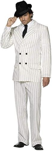 Horror-Shop Weißser Gangster Anzug S