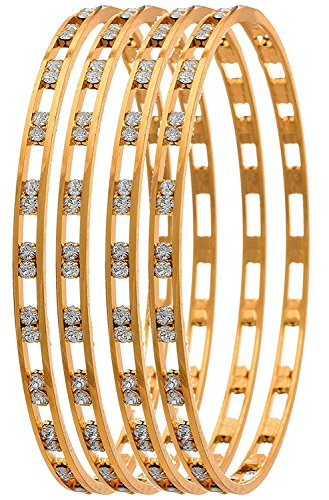 YouBella Ethnic Bollywood Gold Plated Bracelets Bangles Jewellery for Women and Girls (6)