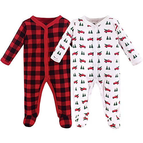 Hudson Baby Baby Cotton Sleep and Play, Christmas Tree, 3-6 Months