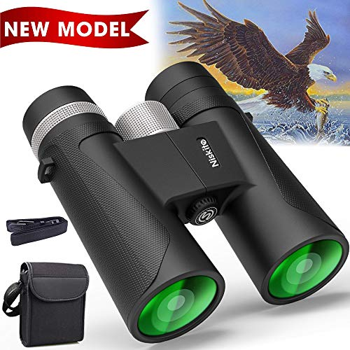 Compact Binoculars for Adults - High Power 12x42 Roof Prism Binocular with Low Light Night...
