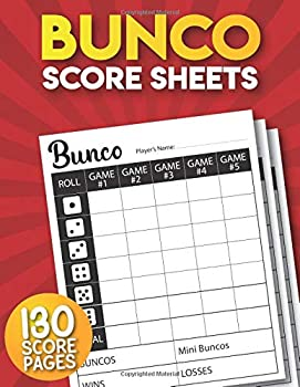 Bunco Score Sheets  130 Large Bunco Game Score Pads.