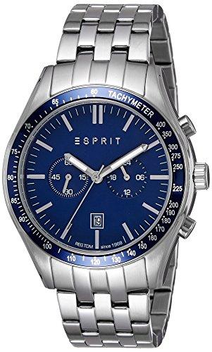 Esprit Herren Chronograph Quarz Uhr mit Edelstahl Armband ES108241006