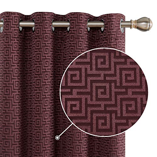 cortinas dormitorio color vino
