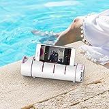 SimpleHH Water Bottle w/Bluetooth Speaker 18oz Electronic Sports Water Bottle  Portable & Multipurpose   Phone Holder & Snap Shot Use  BPA-Free, Leak Proof  Pink