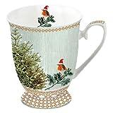 Ambiente Weihnachten Becher Little Robins & Weihnachtsbaum Becher 0,25?l Fine Bone China