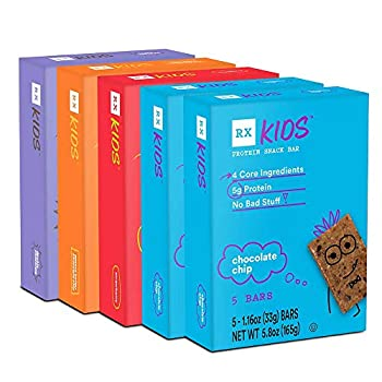 RXBAR RX Kids Protein Snack Bar Variety Pack 1.16oz Bars 25ct New Taste and Texture