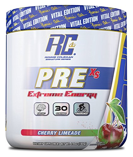 Ronnie Coleman Signature Series Pre XS Extreme Energy Pre Workout, Cherry Limeade,