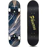 PHOEROS Skateboards-Complete Skateboard for Beginners Teens Kids Boys Girls-31''x8'' Skate Board with Canadian Maple Cruiser Pro Skateboards, Long Boards Skateboard (INkk)