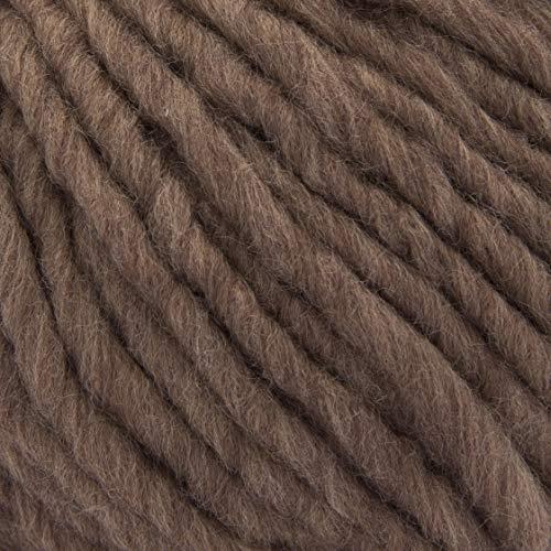 ggh Husky, Farbe:030 - Lederrot, Schurwolle Mischung, 50g Wolle als Knäuel, Lauflänge ca.50m, Verbrauch 800g, Nadelstärke 7-9, Wolle zum Stricken und Häkeln