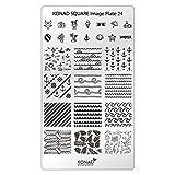 Original KONAD Square 24 Stamping Schablone - SQUARE No. 24 Image Stamping Plate Urlaub Holidays