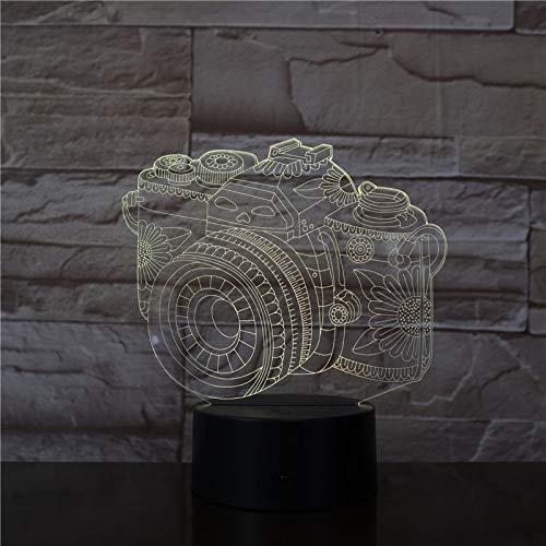 3D-camera lamp LED nachtlampje met afstandsbediening, 7 kleuren wisselend touch voor kindervakantiegeschenken en speelgoedverlichting, USB-stekker