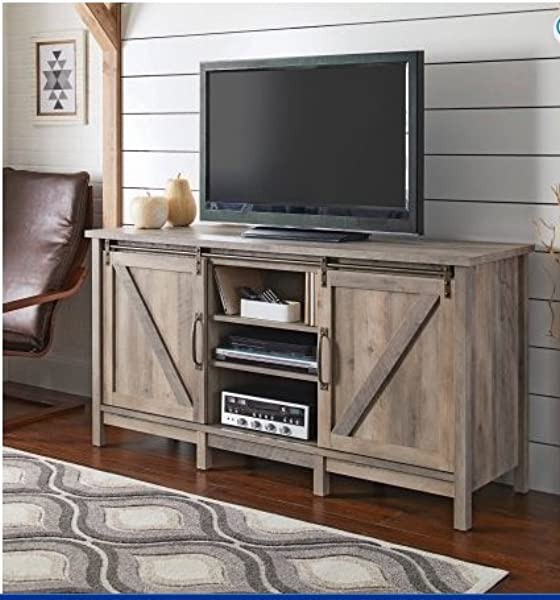 Better Homes And Gardens Modern Farmhouse TV Stand Entertainment Center For TVs Up To 60 Rustic Gray Finish
