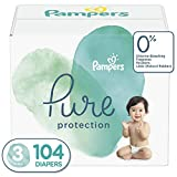 Diapers Size 3, 104 Count - Pampers Pure Protection Disposable Baby Diapers, Enormous Pack