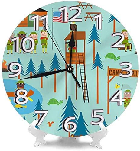 AZHOULIULIU Co.,ltd Camp Turtle Relojes de Escritorio Decoración silenciosa para Gimnasio La Creatividad precisa